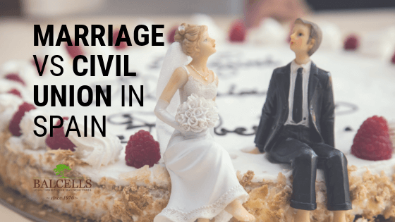 what is the difference between civil union and marriage in spain?