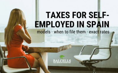 Taxes for Self-employed or Freelancers in Spain