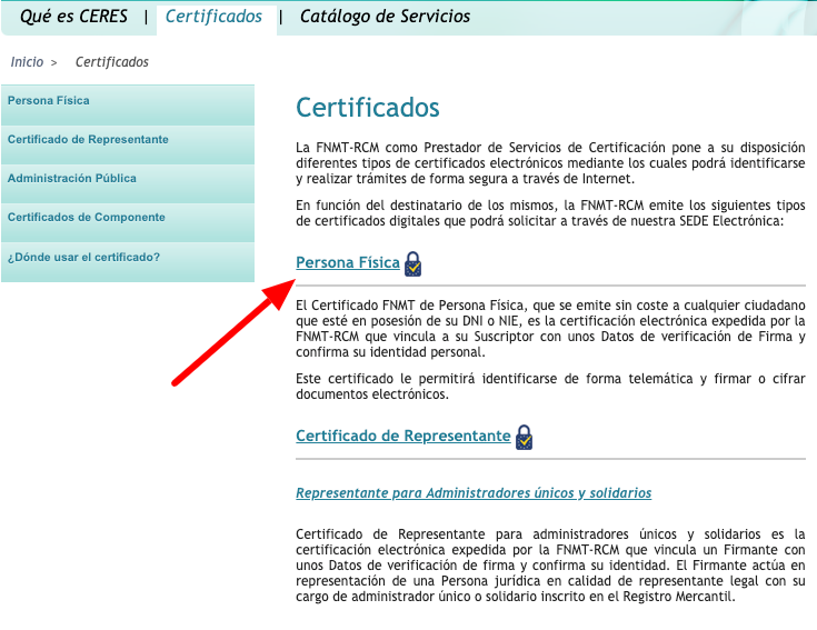 pedir certificado digital