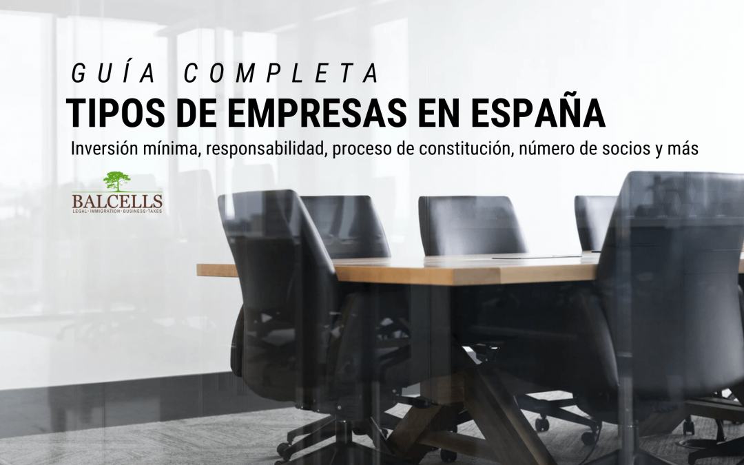 Tipos de Empresas y Sociedades Mercantiles en España