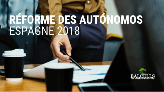 Réforme des Autónomos 2018 en Espagne