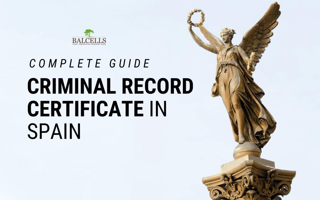 criminal record certificate