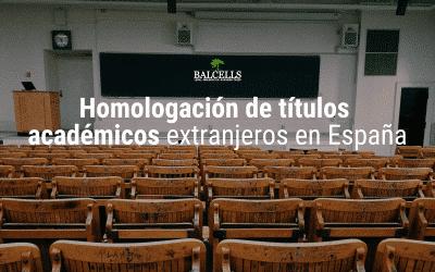 Cómo homologar o convalidar tu título de educación extranjero en España
