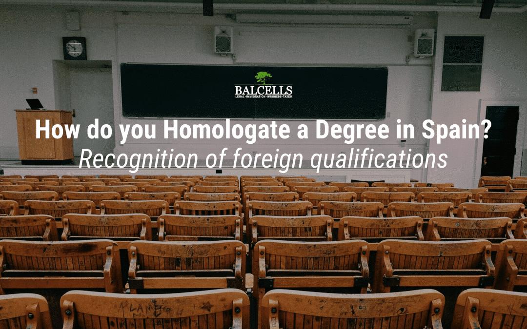 homologate degree in spain
