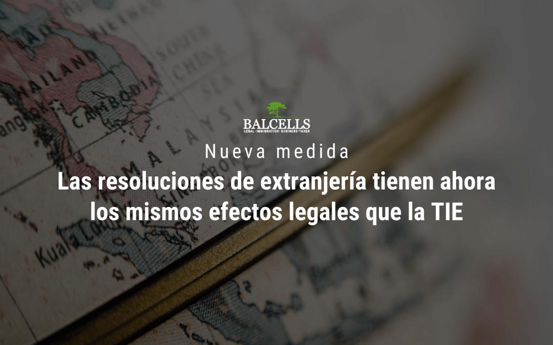 Nueva medida de extranjería para extranjeros sin Tarjeta de Identificación (TIE)