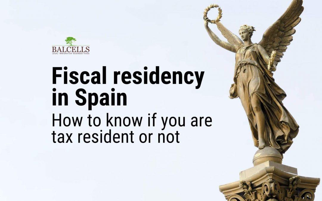 fiscal residency in Spain