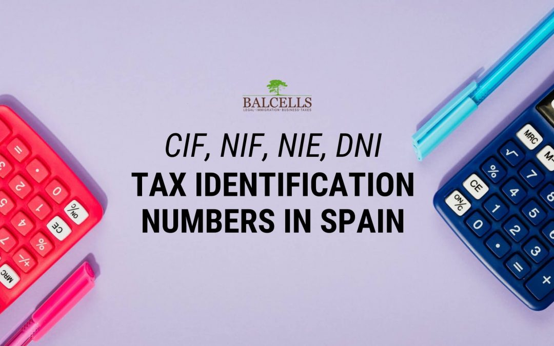 CIF and NIF in Spain: Spanish Tax Identification Numbers