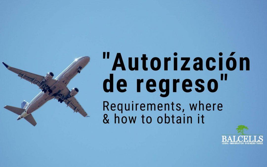 return authorization in Spain