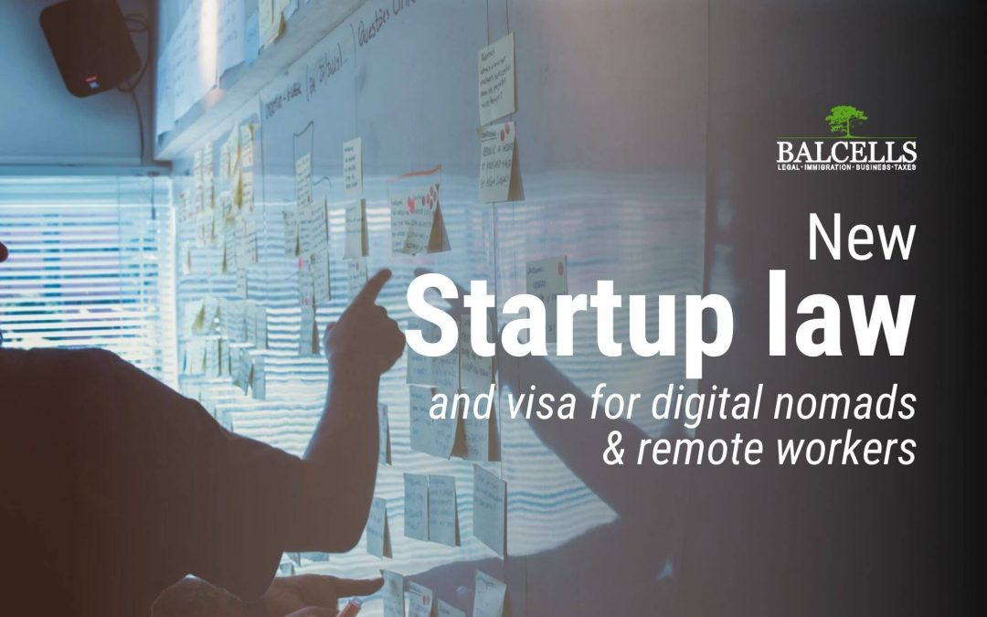 New Startup Law in Spain and New Vista for Digital Nomads