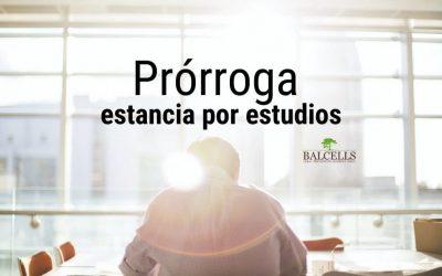 Prórroga de la Estancia por Estudios en España