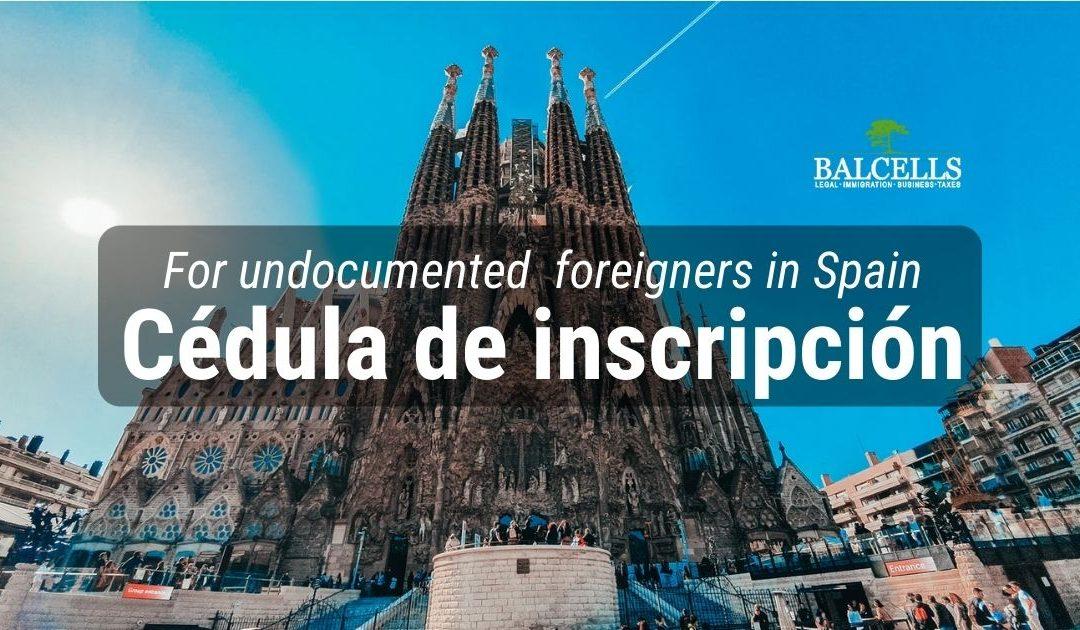 cedula de inscripcion in Spain