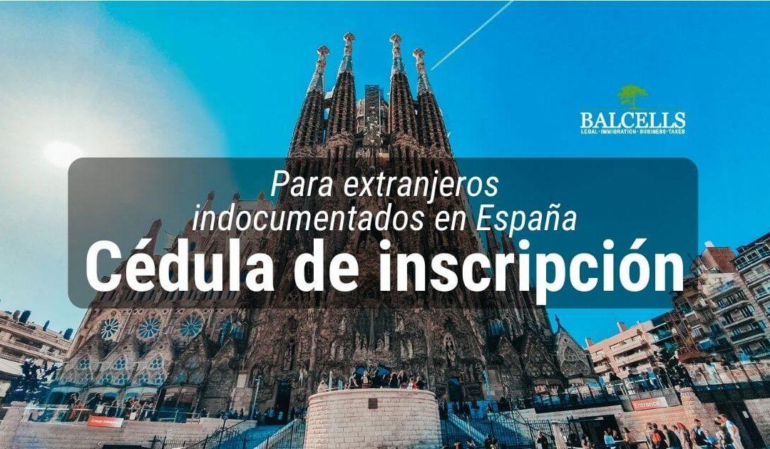 cédula de inscripción en España